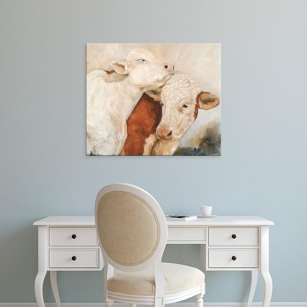 Easy Art Prints Kathy Winkler's 'My Place or Yours II' Premium Canvas Art