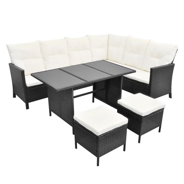 Shop Vidaxl Garden Lounge Set 14 Pieces 8 Person Poly Rattan Black