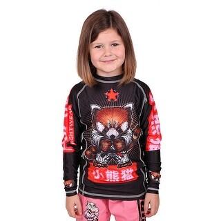 Tatami Fightwear Kid's Meerkatsu Red Panda BJJ Long Sleeve Rashguard