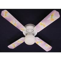 Purple Disney Tinkerbelle Print Blades 42in Ceiling Fan Light Kit - Multi