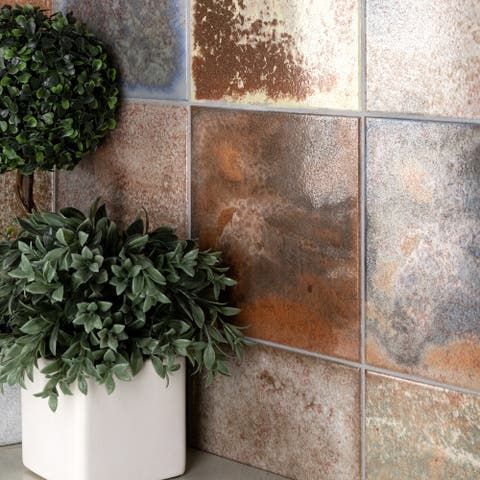 """SomerTile True 7.75"""" x 7.75"""" Ceramic Floor and Wall Tile"""