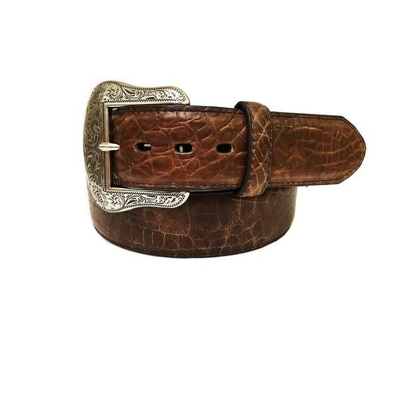 Dan Post Western Belt Mens Padded Croco Print Stitched