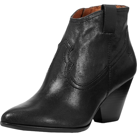 Frye Womens Reina Booties Faux Leather Ankle - Black
