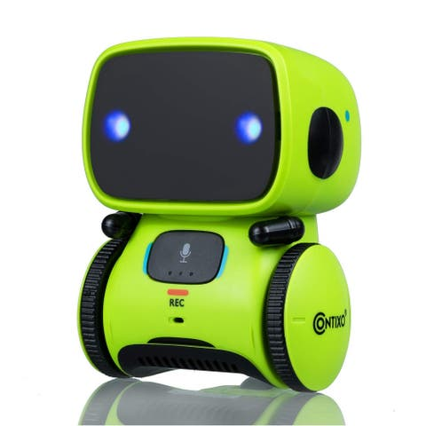 Contixo R1 Voice Controlled Kids Toy Robot, Interactive Talking Touch Sensor Dancing Speech Recognition for Children (Green)