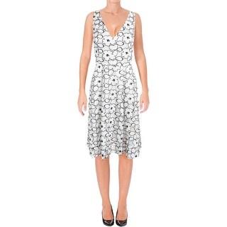 Ivanka Trump Womens Casual Dress Floral Print Sleeveless