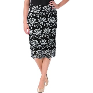 JOA Womens Los Angeles Pencil Skirt Floral Lace