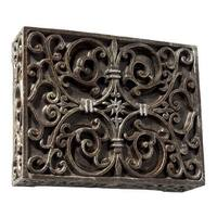 """Craftmade CABW Wireless 8.5"""" Wide Hand-Carved Door Chime with Push Button"""