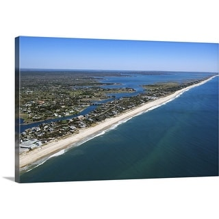 """Aerial view of The Hamptons, Long Island, New York"" Canvas Wall Art"