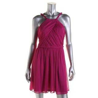 Hailey Logan Womens Juniors Party Dress Braided Sleeveless