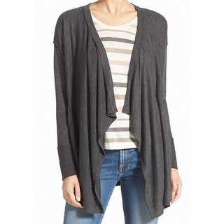 Splendid NEW Gray Women's Size XS Draped-Front Cardigan Sweater