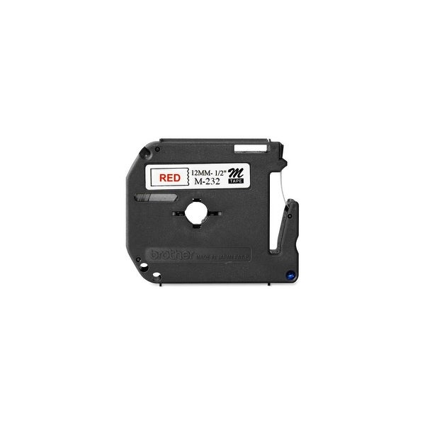 """Brother MK232 Brother M Series Non-Laminated Tape for P-touch Printer - 0.50"""" Width x 26.20 ft Length - Direct Thermal -"""