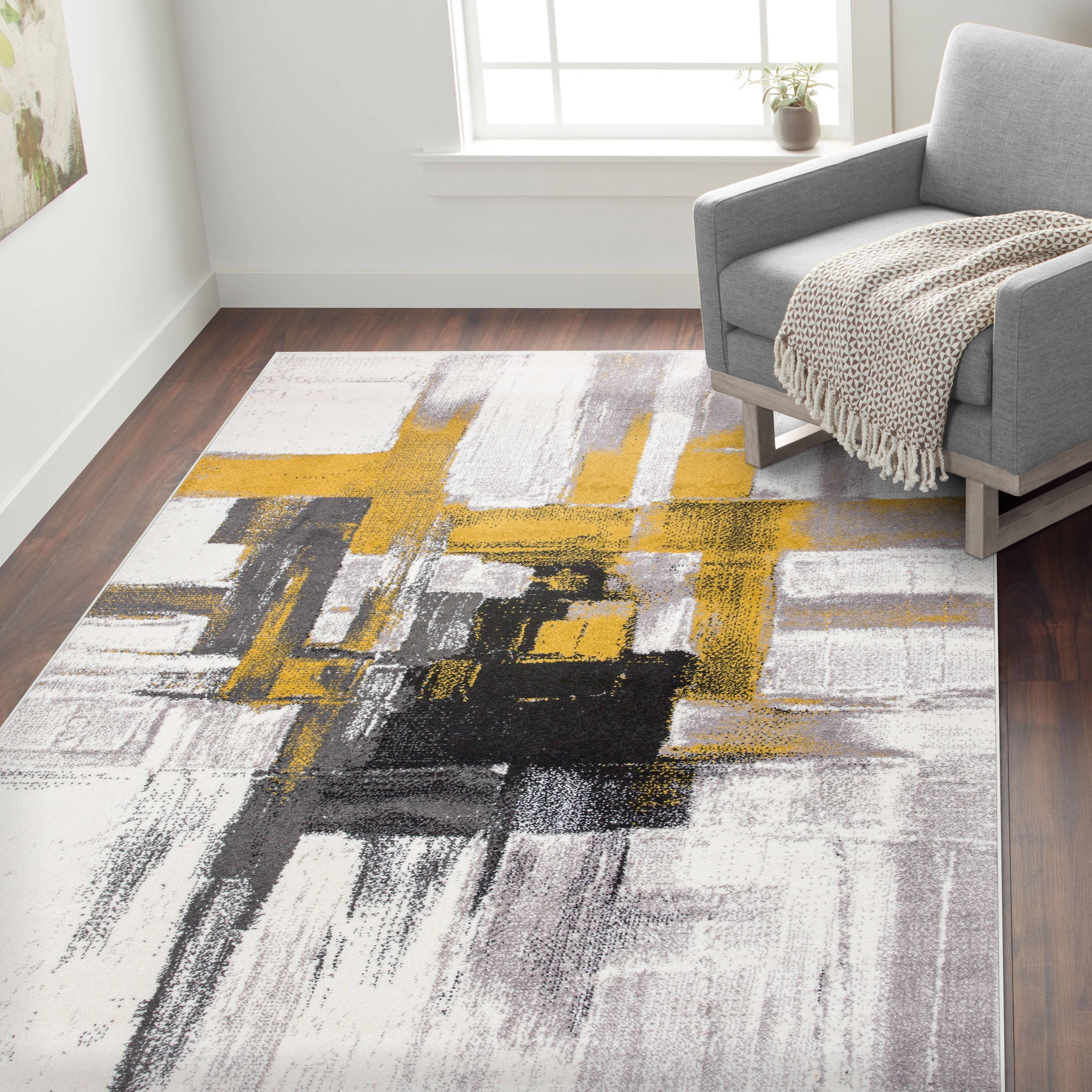 Contemporary Modern Abstract Area Rug On Sale Overstock 21866659