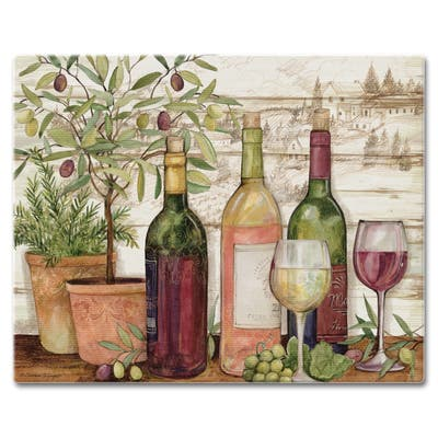 "Counterart Glass Cutting Board Counter Saver 12""x15"" , California Wine - 12x15x.191"