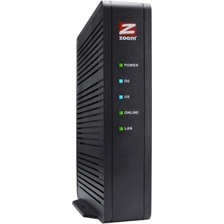Zoom Telephonics 5370-00-00 Zoom DOCSIS 3.0 16x4 686 Mbps Cable Modem, Model 5370 - 1 x Network (RJ-45) - F-type - Gigabit