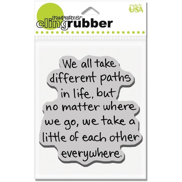 """Stampendous Cling Stamp 3.5""""X4"""" -Life Path"""