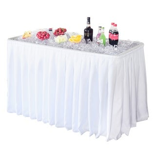 Modern Home 4-inch Party Ice Bin Table with Skirt
