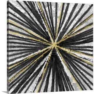 """""""Black and Gold"""" Canvas Wall Art"""