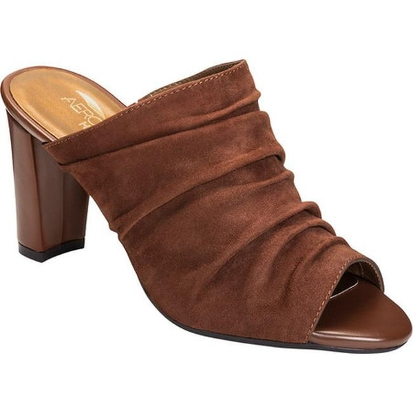 ce5d1feacbe Shop Aerosoles Women s Open Road Slide Sandal Mid Brown Suede - Free ...