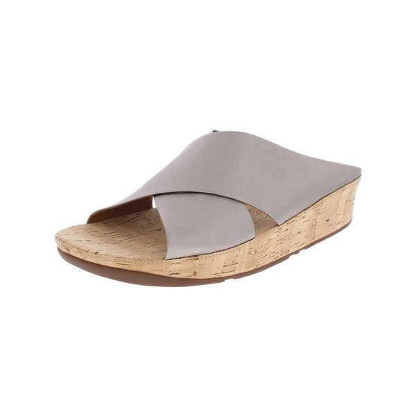 a840a4a46d1ce1 Shop Fitflop Womens Kys Slide Sandals Leather Wedges - Free Shipping ...