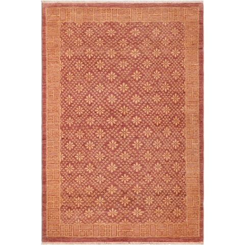 """Boho Chic Ziegler Louanne Hand Knotted Area Rug -5'10"""" x 9'2"""" - 5 ft. 10 in. X 9 ft. 2 in."""