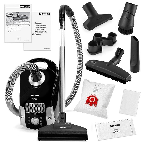 Miele Compact C1 Turbo Team Canister Vacuum Cleaner + STB205-3 Turbobrush + SBB-3 Parquet Floor Brush + More!