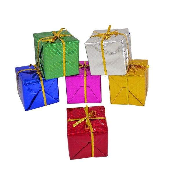 Unique Bargains Colorful 6x6x6cm Cubic Gift Box Hanger for Xmas Christmas Tree