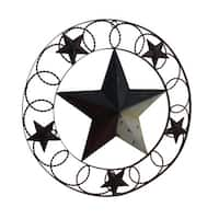 Rustic Red White & Blue Indoor/Outdoor Framed Barn Star Wall Hanging