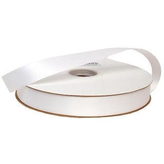 """Offray Ribbon Doubleface Satin 7/8"""" White"""