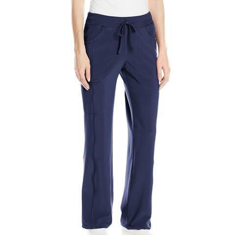 Cherokee Womens Scrub Pants Blue Small S Petite Low Rise Straight Leg