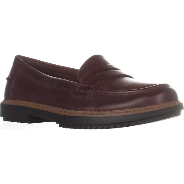 298b5cdab50eb Shop Clarks Raisie Eletta Comfort Penny Loafers, Mahogany Leather ...