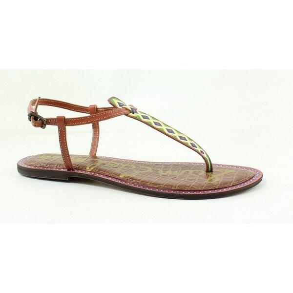 cdad46309 Shop Sam Edelman Womens Gigi Brown T-Strap Sandals Size 9.5 - On ...