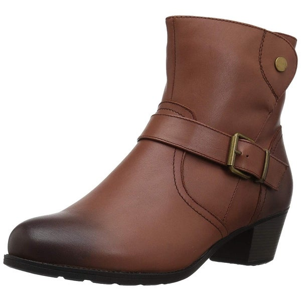 Propét Women's Tory Ankle Bootie, Brown, Size 9.5