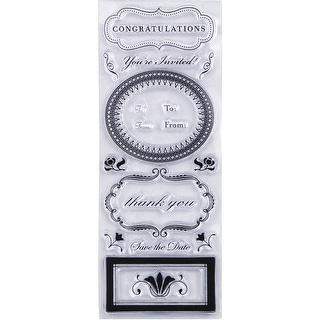 """Martha Stewart Clear Stamps 2.5""""X7""""-Phrases & Greetings"""