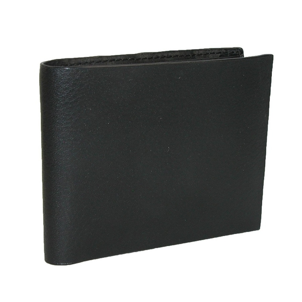 CTM® Men's Italian Leather Non-Stitch Bifold Wallet with Pebble Grain Finish - One size