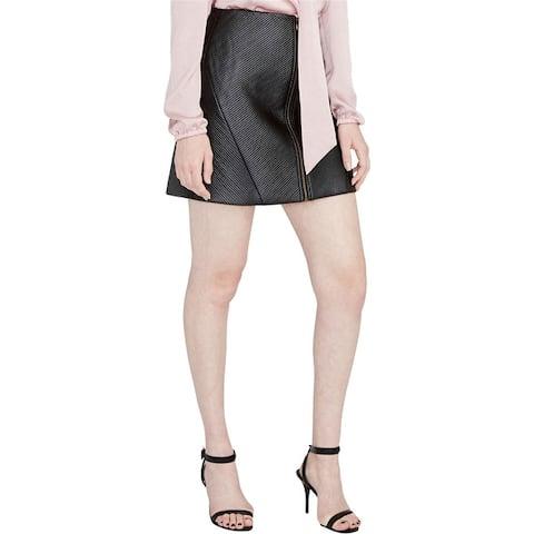 Rachel Roy Womens Zip Up A-Line Skirt