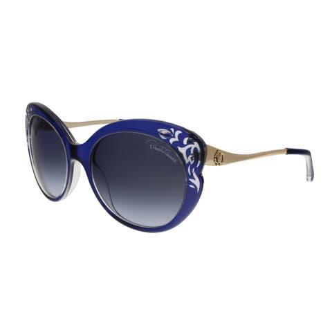 3081954fe74db Roberto Cavalli RC900S 92W Homam Navy Blue Cat Eye Sunglasses - No Size