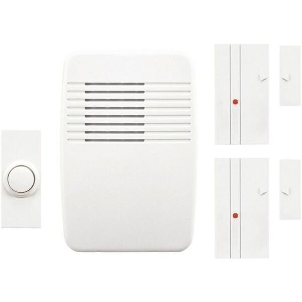 Heath Zenith SL-7352-02 Wireless Home Alert Kit w/ 3-Sound Options, White  Cover