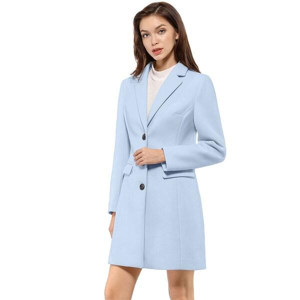 Women's Notched Lapel Single Breasted Outwear Winter Coat. Opens flyout.