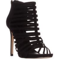 madden girl Lexxx Heeled Strappy Sandals, Black