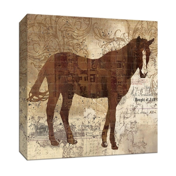 """PTM Images 9-146974 PTM Canvas Collection 12"""" x 12"""" - """"Western Horse I"""" Giclee Horses Art Print on Canvas"""