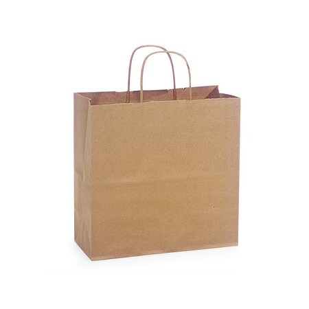 Shop Pack Of 25 Joey 10 X 5 X 10 Solid Natural Brown Kraft Paper