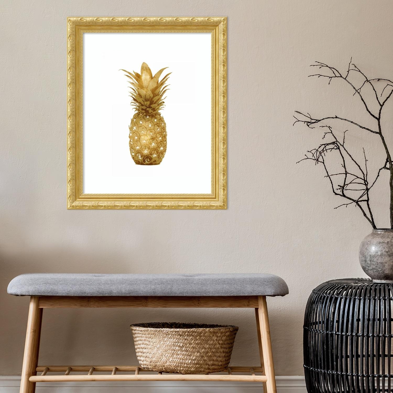 Framed Art Print Gold Pineapple I By Kate Bennett Overstock 29010892 23 X 28 Inch