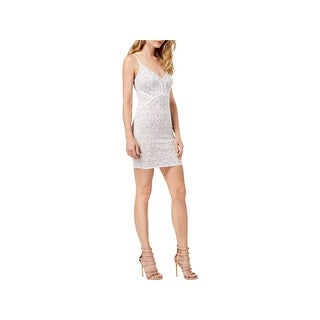 Guess Womens Bodycon Dress Lace Mini