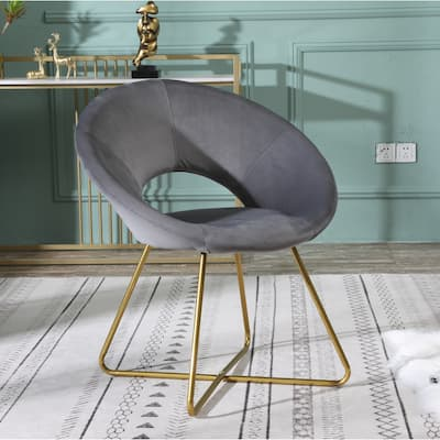 Silver Orchid Murray Velvet Upholstered Accent Chair