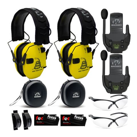 Walker's Razor Slim Electronic Hearing Protection (Gadsden Flag, 2Pk)