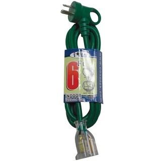Conntek 24162-072 Indoor Extension Cord, 6', Green