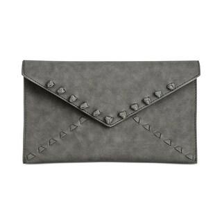 Danielle Nicole Womens Tina Clutch Handbag Braided Faux Leather - Small