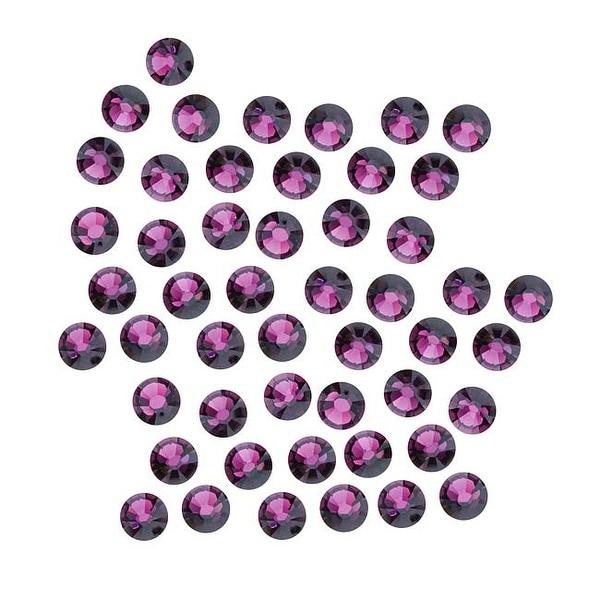 Swarovski Elements Crystal, Round Flatback Rhinestone SS16 3.8mm, 50 Pieces, Amethyst