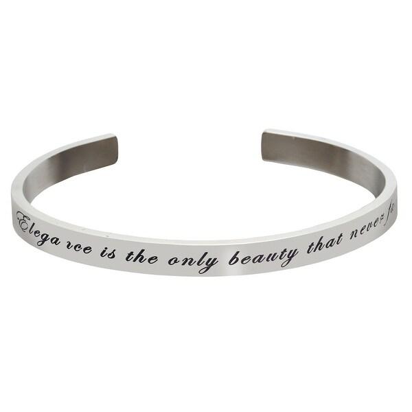 Women's Famous Women's Quotes Cuff Bracelet - Elegance - Laurel Thatcher Ulrich