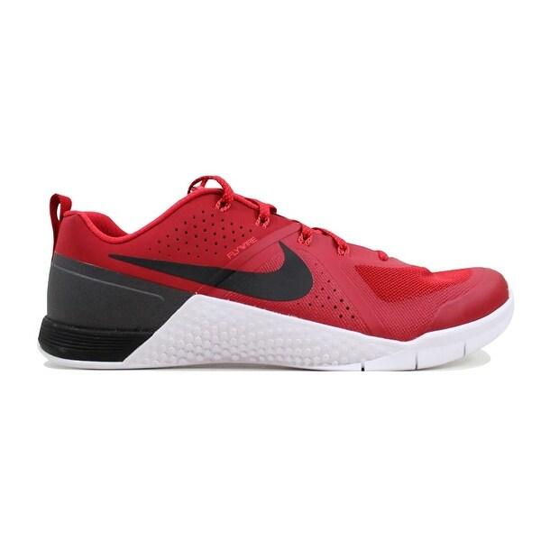 fc0ac95f40ed Shop Nike Men s Metcon 1 Gym Red Black-Bright Crimson-White 704688 ...